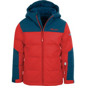 TROLLKIDS Narvik XT Jas Kinderen, bright red/mystic blue